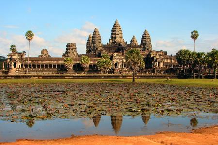Panoramic view of Angkor Wat Temple