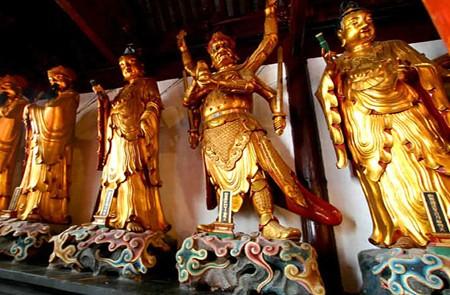 Buddha statues in Jade Buddha Temple Shanghai