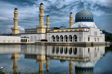 City Mosque in Kota Kinabalu, Sabah, Malaysia.
