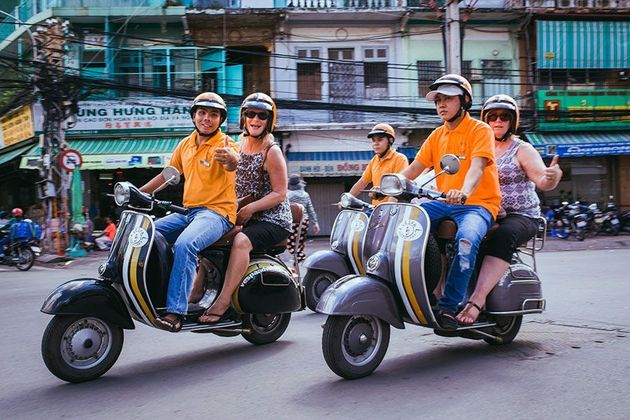 Explore the Insider of Saigon in the back of a Vespa - Saigon shore excursions