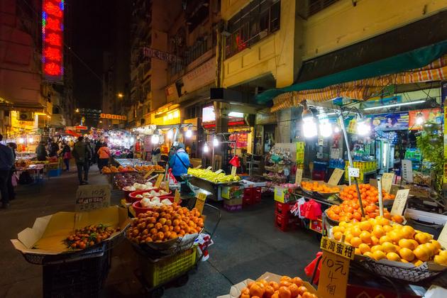 Night market in Hong Kong