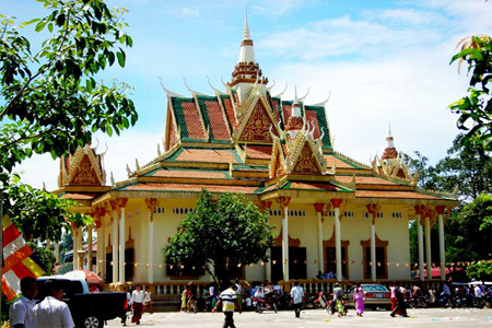 Wat Kraom (Lower Wat), Sihanoukville, Cambodia.