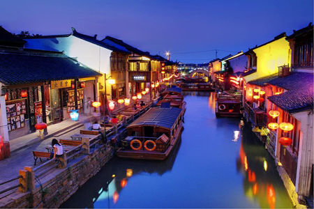 Water town in Suzhou, China