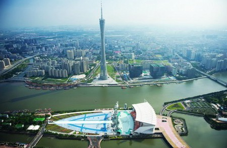 Panoramic view of Canton Tower
