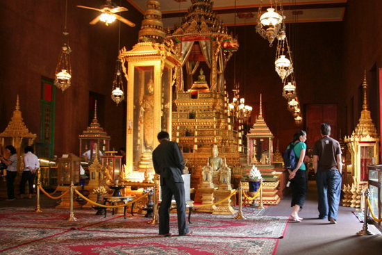 Inside of Silver Pagoda, Royal Palace, Phnom Penh