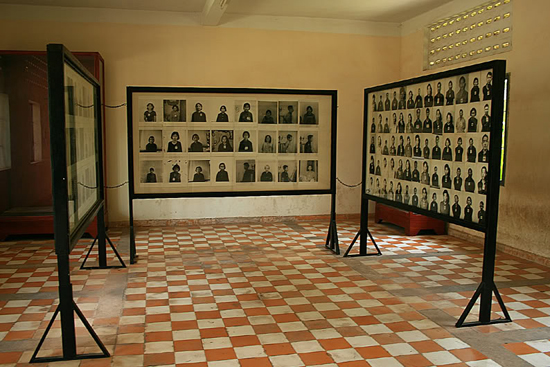 Photos of prisoners in Tuol Sleng Genocide Museum
