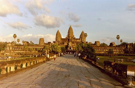 The entrance of Angkor Wat