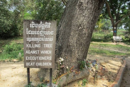 Trees were used to massacre the children at Choeung Ek Killing Fields