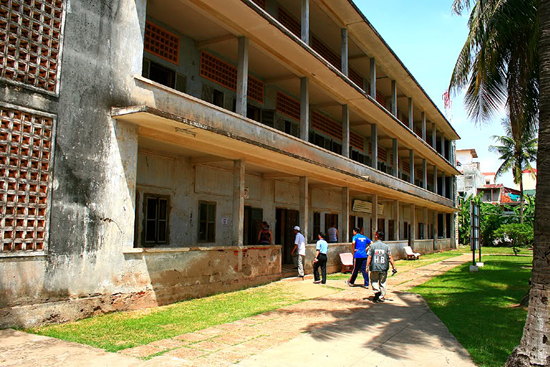 Tuol Sleng Genocide Museum was formerly a high school