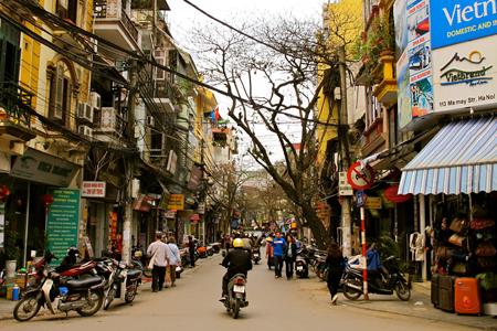 A Corner of Hanoi Old Street