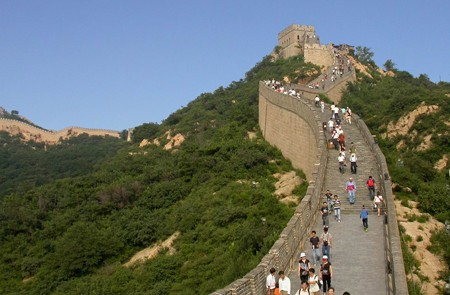 Visitors at Badaling Great Wall
