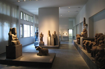 Cham sculpture and artworks in Cham Museum, Danang