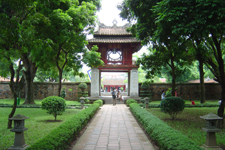 Second Courtyard and Constellation of Literature Pavilion, Temple of Literature, Hanoi