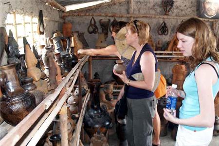 Tourists at Bat Trang Ceramic Village