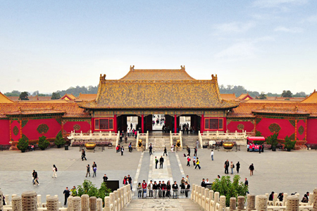 Visitor at the courtyard, Forbidden City, Beijing