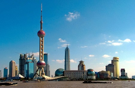 Other view of Oriental Pearl TV Tower, Shanghai