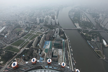 Panoramic view of Guangzhou from Canton Tower