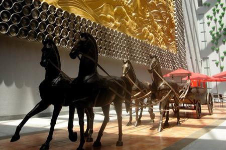 Horses inside Pearl River-InBev International Beer Museum