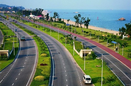 The scenic Huandao Road in Xiamen