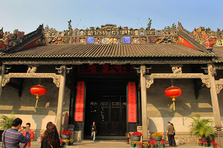 Visitors at Ancestral Temple of Chen Family