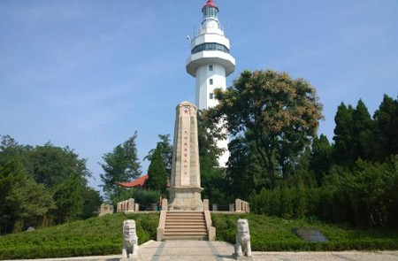 Lighthouse at Yantai Hill Park