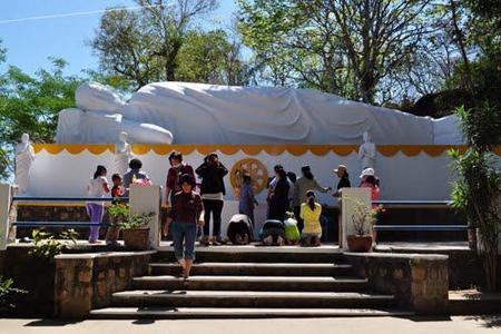 Reclining Buddha statue in Niet Ban Tinh Xa