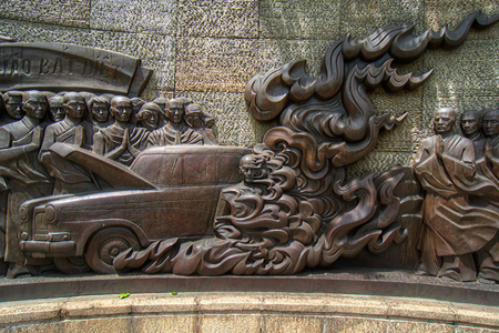 Wall painting in Thich Quang Duc Monument