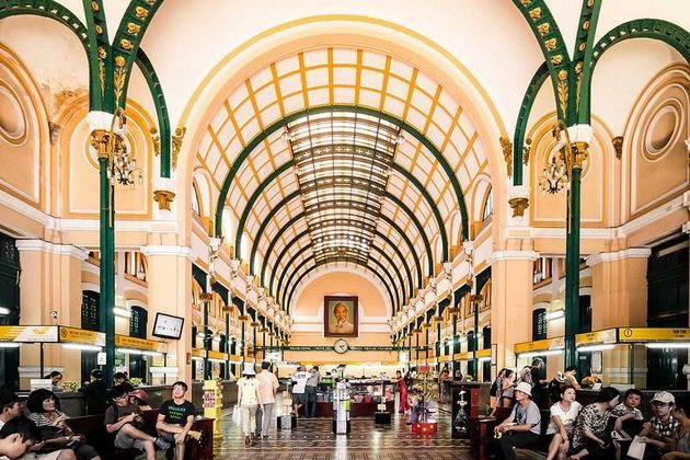 inside saigon old post office - Ho chi minh city shore excursions from phu my port