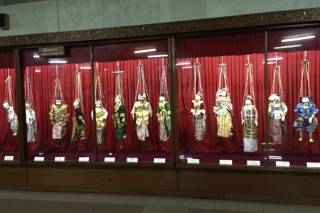 Puppets on display, Myanmar National Museum