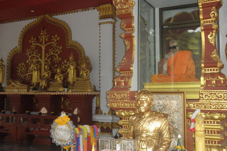 The Mummifed Monk at Kunaram Temple