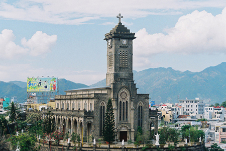Panoramic view of Nha Trang Stone Church
