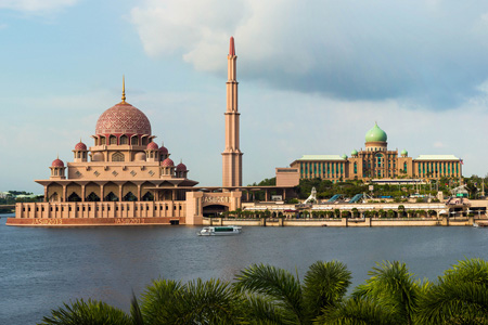 River view of Front view of Perdana Putra