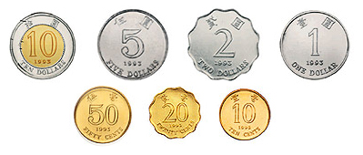 Hong Kong Coins 1 2 5 10 20 50