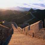 Great wall of China with beautiful sky view