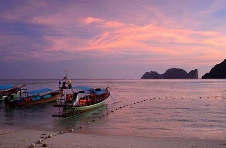 Beautiful Thailand beach in spring