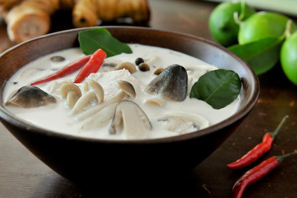 Tom Kha Gai (Chicken Galangal Soup)