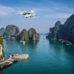 flight-over-Halong-Bay-with-Hai-Au-Seaplane