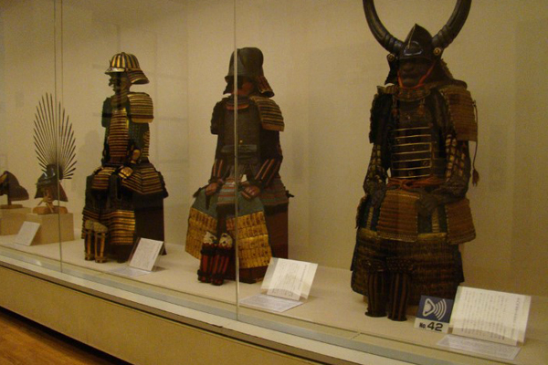 Costumes on exhibition in Osaka Castle Museum