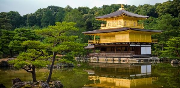 The Temple of Golden Pavilion, Kinkakuji Temple, Kyoto, Japan