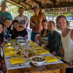 Delicious Filipino lunch with friend and family after relaxing excursion