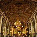 Interior architecture of San Agustin Church