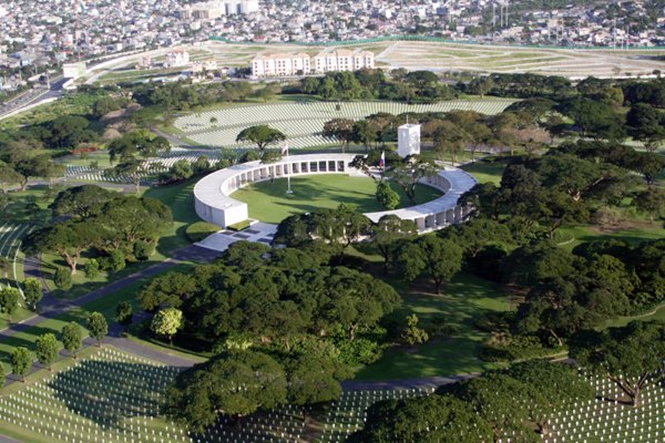 Panoramic view of Manila American Cemetery in Fort Bonifacio