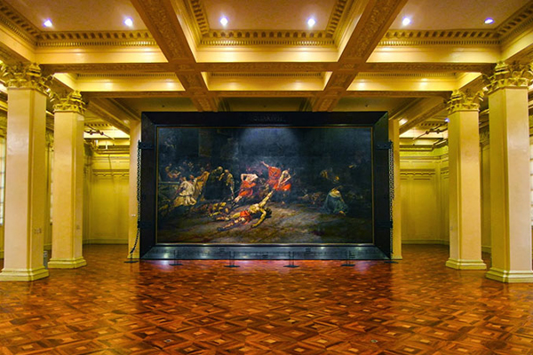 Spoliarium by Juan Luna at the National Museum of Philippines