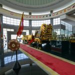 Royal chariot and many historical objects on exhibition in Royal Regalia museum