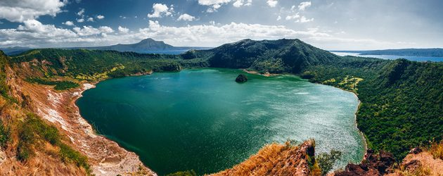 Taal volcano with a lake inside the crater
