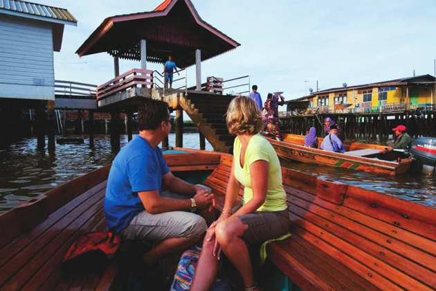 Visit an authentic water village in Brunei before back to your cruise ship