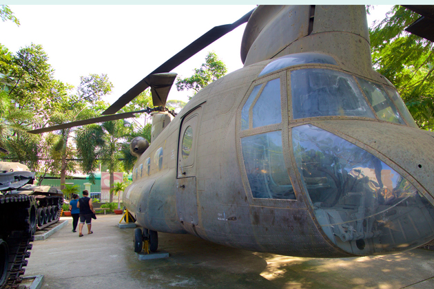 American aircrafts are on exhibition, War Remnants Museum