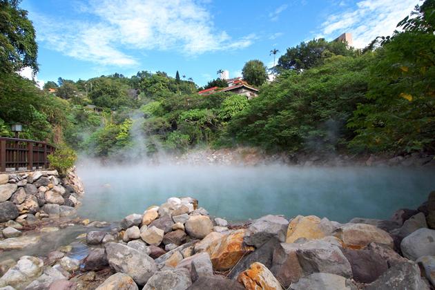 Dim in hot springs of Taiwan