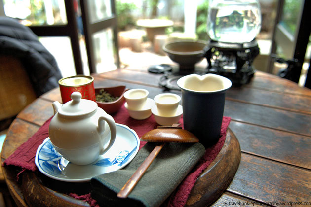 Drink tea in traditional teahouses, Taiwan