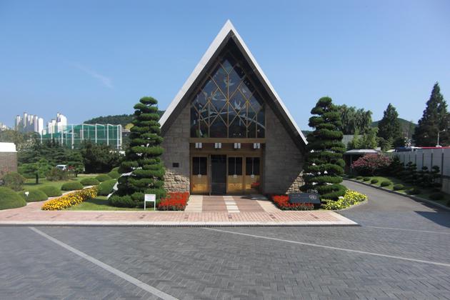 Memorial Service Hall, UN Memorial Cemetery